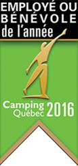 employé ou bénévole de l'année selon Camping Québec 2016 - Parc de la Gorge de Coaticook