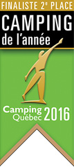 Finaliste 2e place catégorie Camping de l'année selon Camping Québec 2016 - Parc de la Gorge de Coaticook