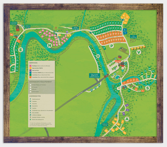 Camping map - Parc de la Gorge de Coaticook