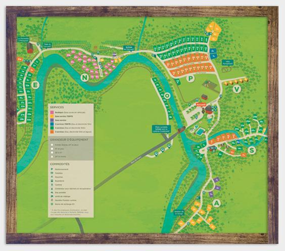 Carte du camping - Parc de la Gorge de Coaticook