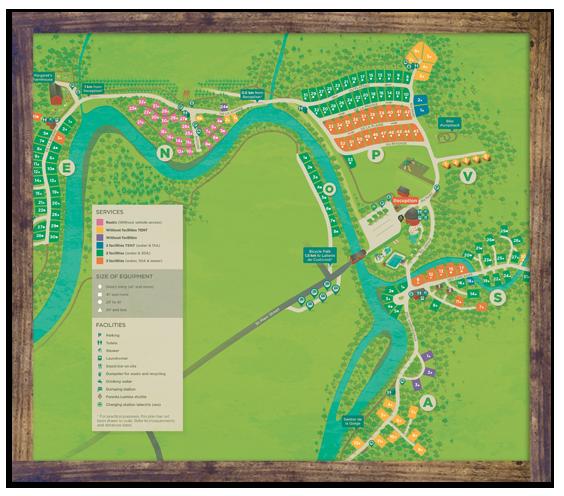 Camping map - Parc de la Gorge de Coaticook